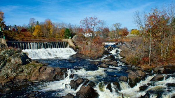 Cargill Falls of the Quinebaug River in downtown Putnam.